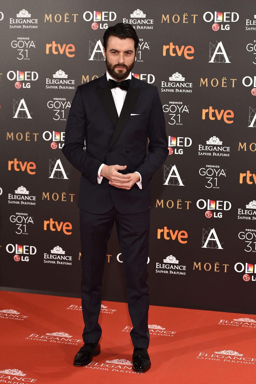 Javier Rey en los premios Goya 2017