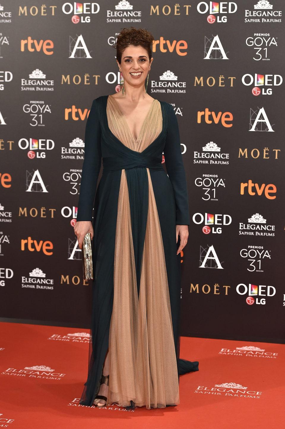 Ruth Gabriel en la alfombra roja de los Premios Goya 2017