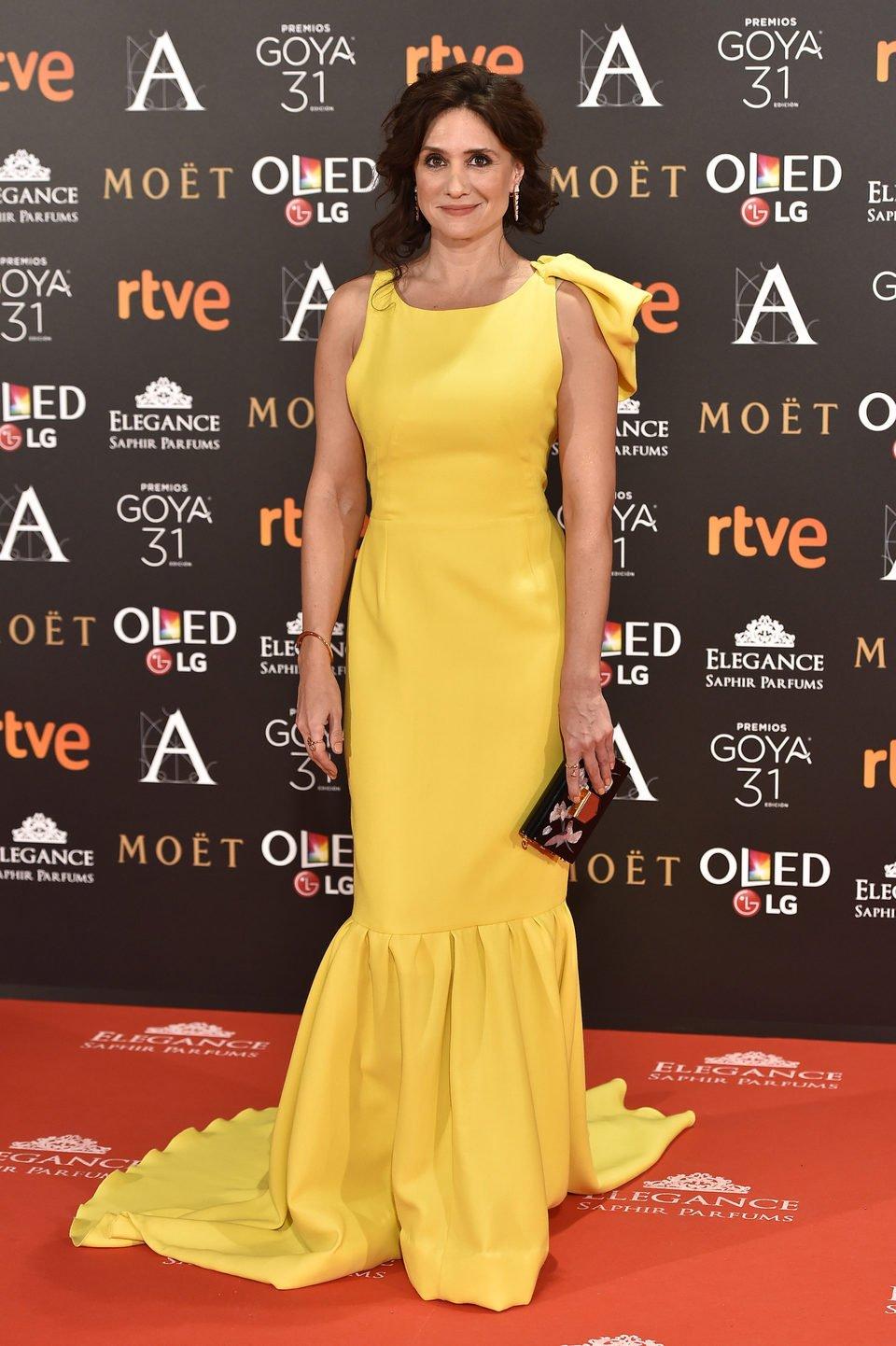 María Botto en la alfombra roja de los Premios Goya 2017