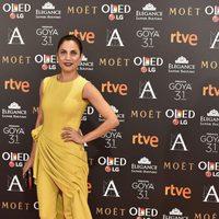 Toni Acosta en la alfombra roja de los Premios Goya 2017