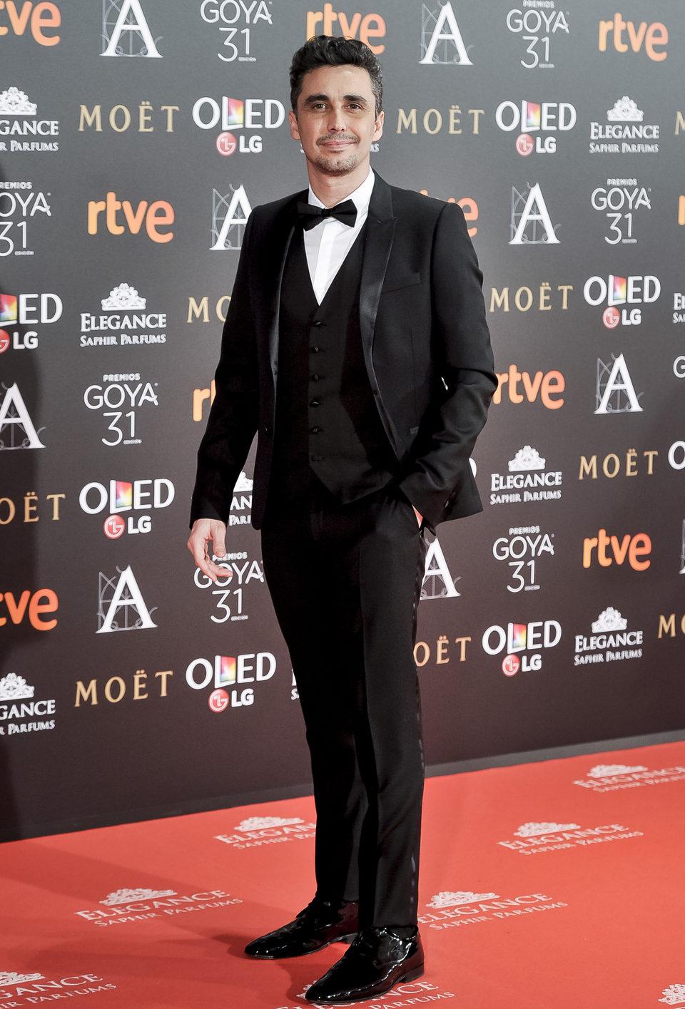 Canco Rodríguez, actor de la serie 'Aída', en la alfombra roja de los Premios Goya 2017