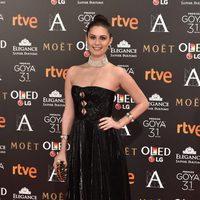 Nerea Camacho en la alfombra roja de los Premios Goya 2017