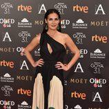 Belén López en la alfombra roja de los Premios Goya 2017