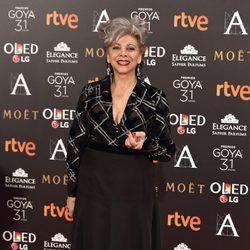 Kiti Manver en la alfombra roja de los Premios Goya 2017