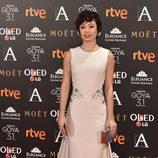 Anna Castillo en la alfombra roja de los Premios Goya 2017