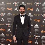 El actor Miguel Ángel Muñoz en la alfombra roja de los Premios Goya 2017