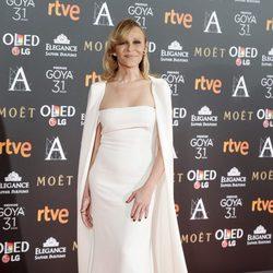 Antonia San Juan en la alfombra roja de los Premios Goya 2017