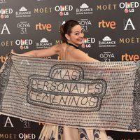 Cuca Escribano en la alfombra roja de los Premios Goya 2017