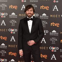 El director Daniel Sánchez Arévalo en la alfombra roja de los Premios Goya 2017