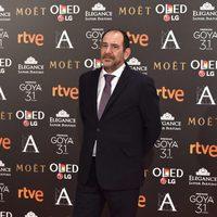 Karra Elejalde, actor de '100 metros', en la alfombra roja de los Premios Goya 2017