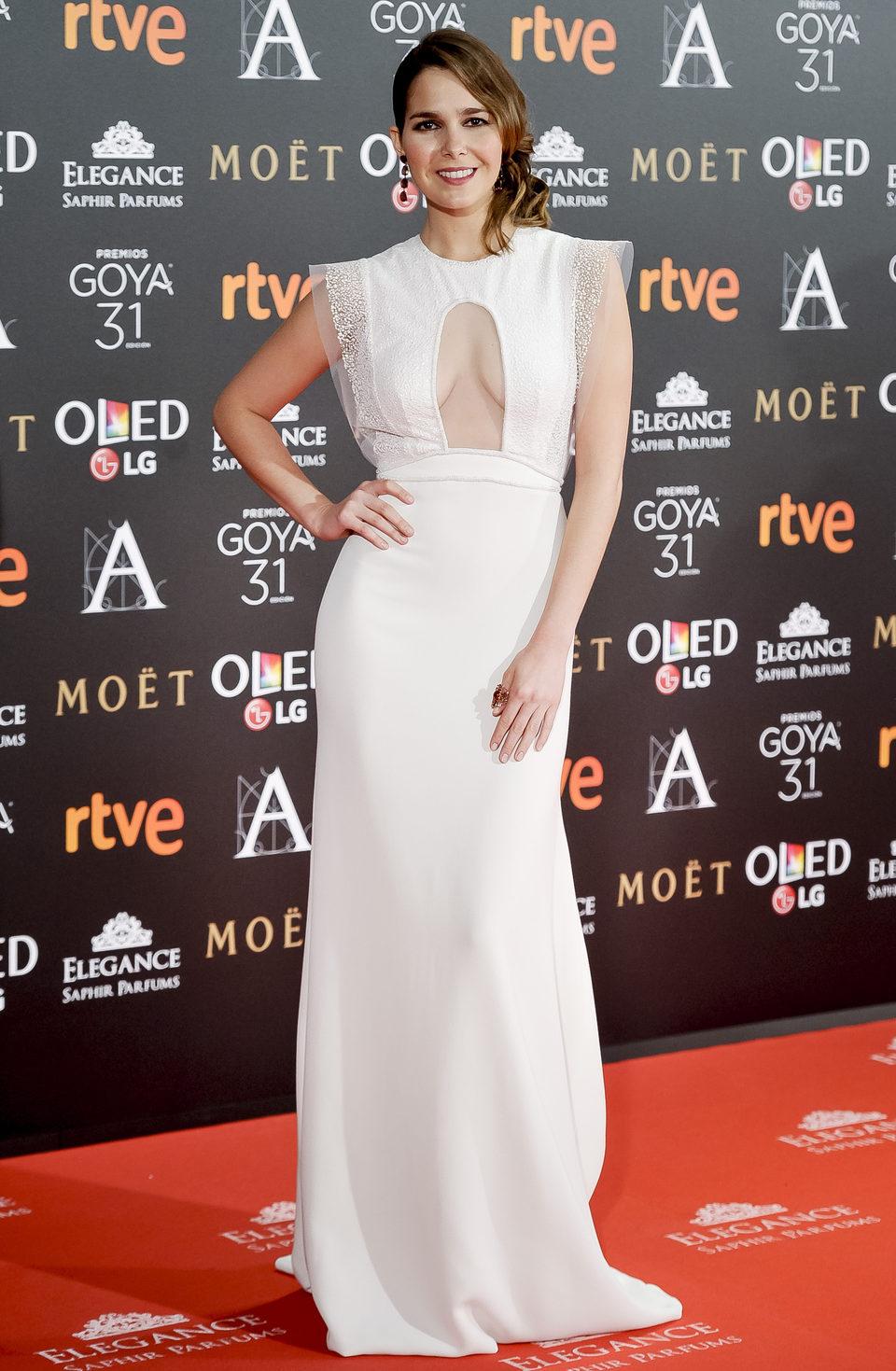 Natalia Sanchez en la alfombra roja de los Premios Goya 2017