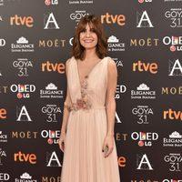 Alexandra Jimenez en la alfombra roja de los Premios Goya 2017