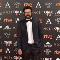 El actor Manolo Solo, nominado a Mejor actor de reparto, en la alfombra roja de los Premios Goya 2017