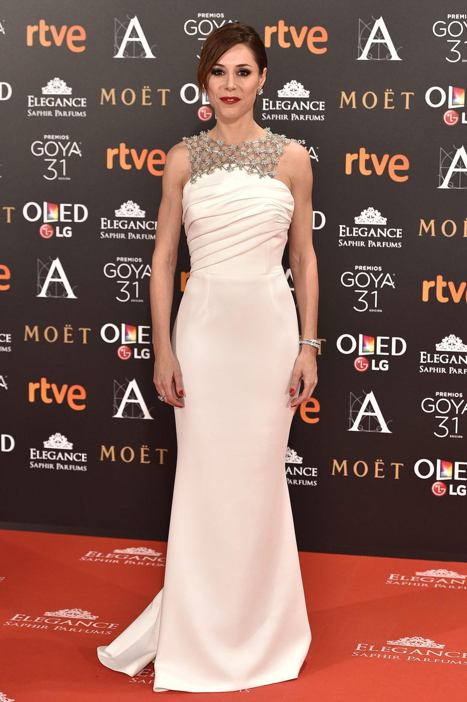 Ruth Díaz en la alfombra roja de los Premios Goya 2017