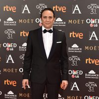 El actor Luis Callejo, nominado a Mejor actor, en la alfombra roja de los Premios Goya 2017