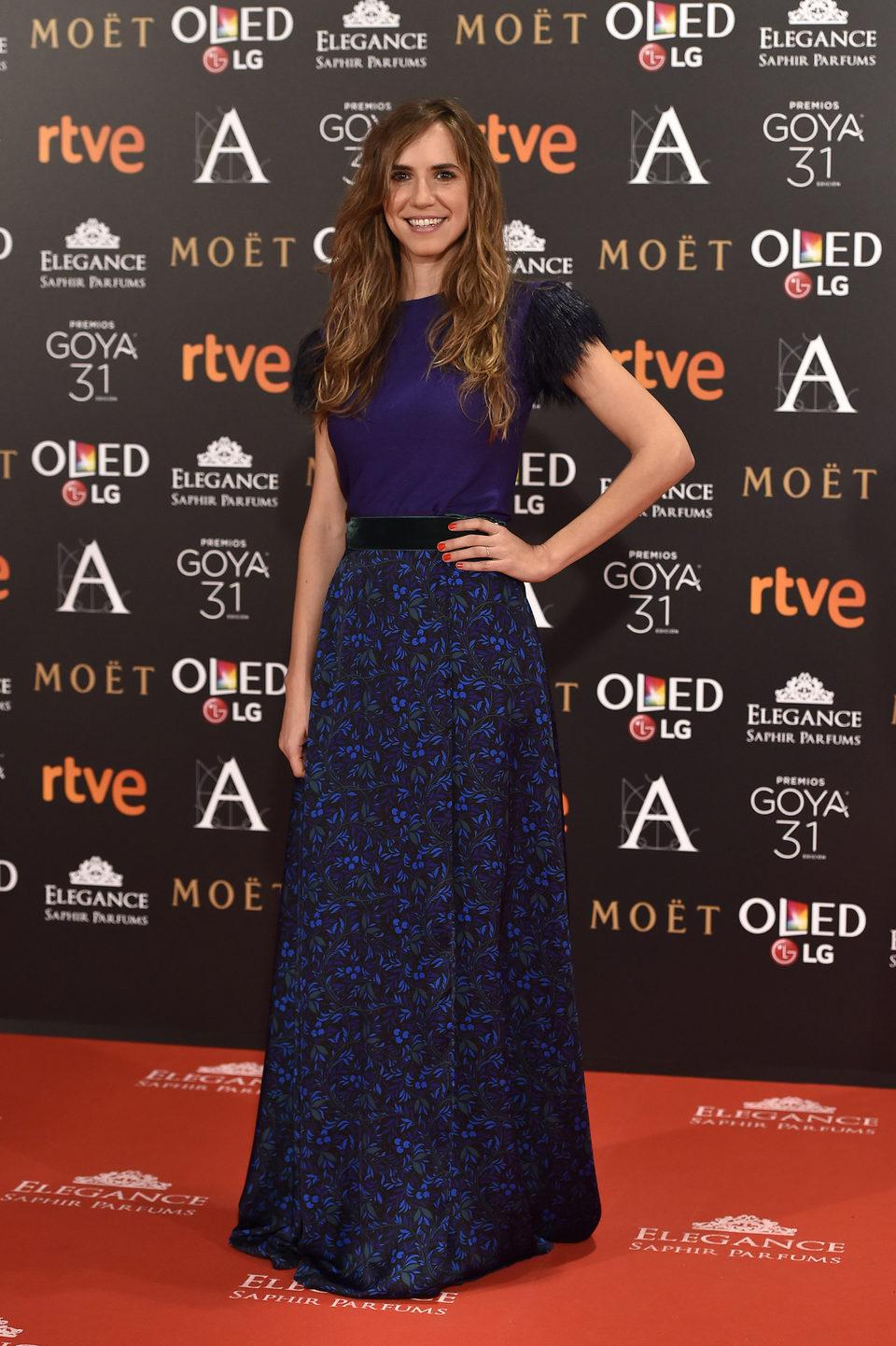 Aina Clotet en la alfombra roja de los Premios Goya 2017
