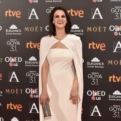 Melina Matthews en la alfombra roja de los Premios Goya 2017