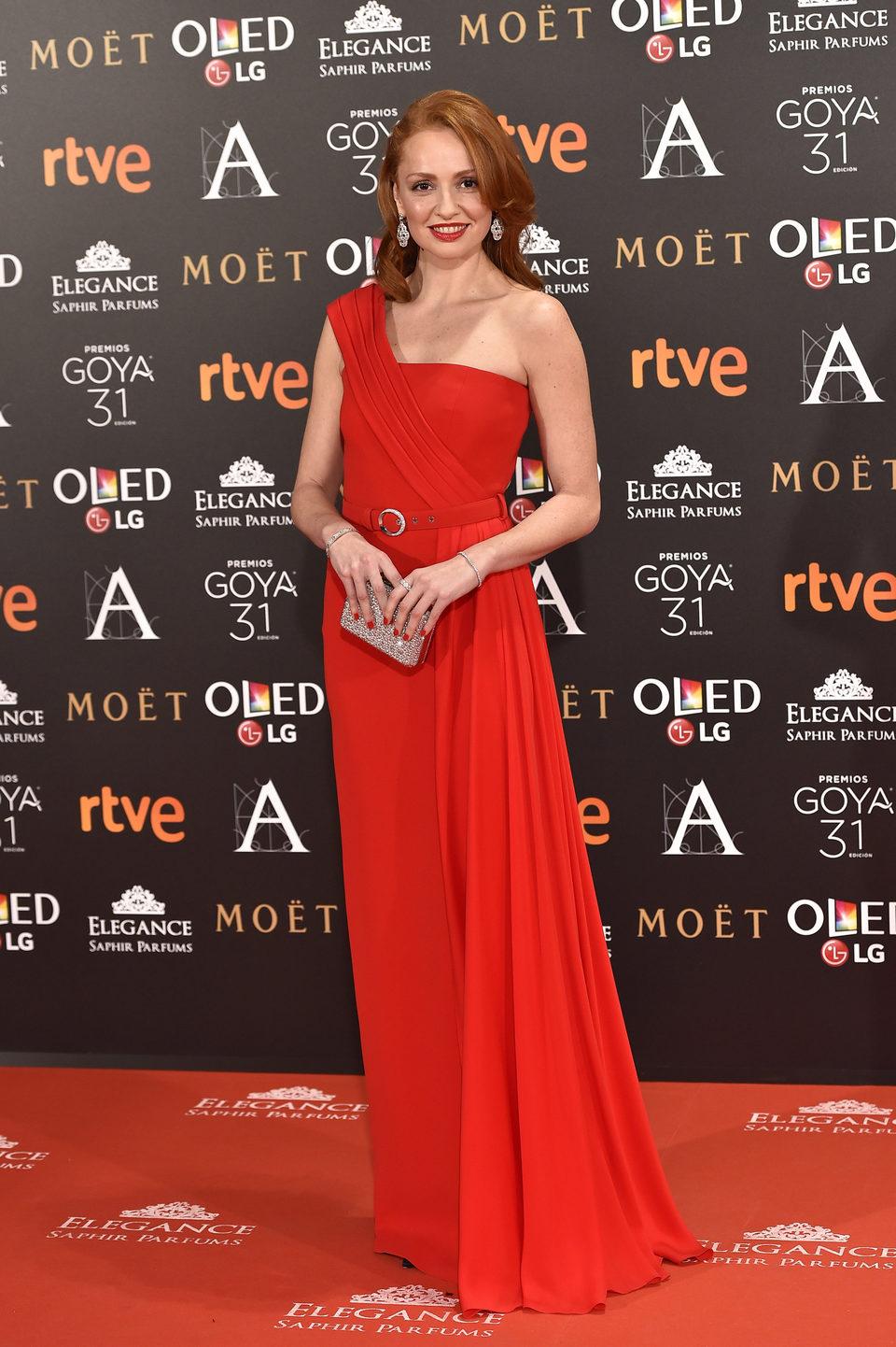 Cristina Castaño en la alfombra roja de los Premios Goya 2017