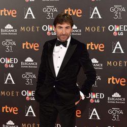 El actor Antonio de la Torre, nominado a Mejor actor, en la alfombra roja de los Premios Goya 2017