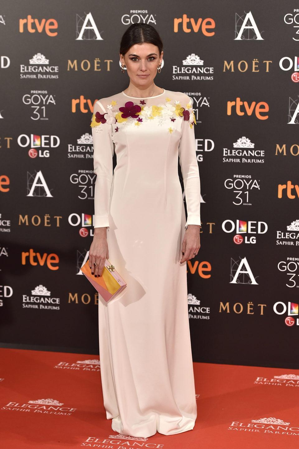 Marta Nieto en la alfombra roja de los Premios Goya 2017
