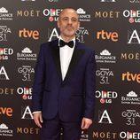 El actor Javier Gutiérrez en la alfombra roja de los Premios Goya 2017