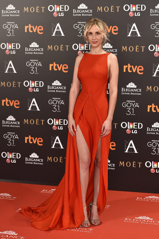 Ingrid Jansson en la alfombra roja de los Premios Goya 2017