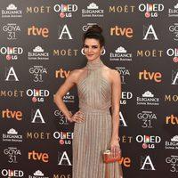 Clara Lago en la alfombra roja de los Premios Goya 2017