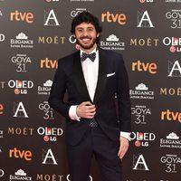 El actor Javier Pereira en la alfombra roja de los Premios Goya 2017