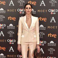Bárbara Santacruz en la alfombra roja de los Premios Goya 2017