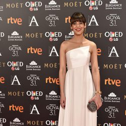 Belén Cuesta en la alfombra roja de los Premios Goya 2017