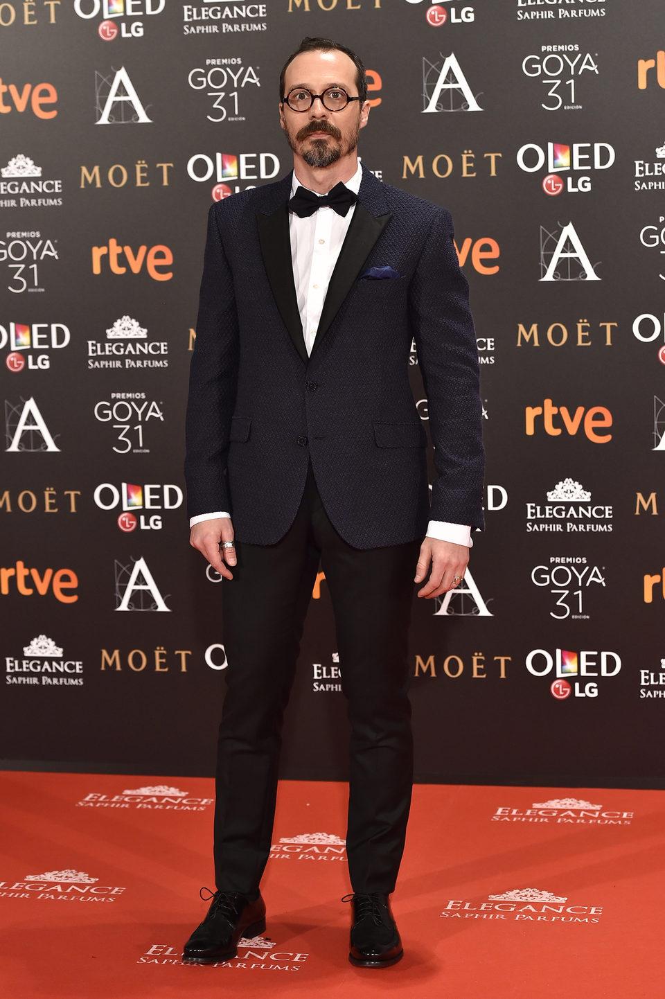 El actor Fele Martínez la alfombra roja de los Premios Goya 2017