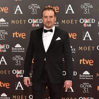 El actor Fernando Cayo en la alfombra roja de los Premios Goya 2017