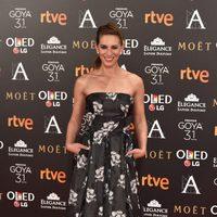 Laura Domínguez en la alfombra roja de los Premios Goya 2017