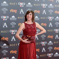 Pilar Ordóñez en la alfombra roja de los Premios Goya 2017