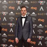 El guionista  Marc Crehuet en  la alfombra roja de los premios Goya 2017