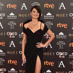 Penélope Cruz en la alfombra roja de los Premios Goya 2017