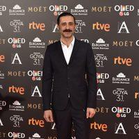 El actor Nacho Fresneda en la alfombra roja de los premios Goya 2017