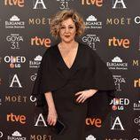 Carmen Machi en la alfombra roja de los Premios Goya 2017