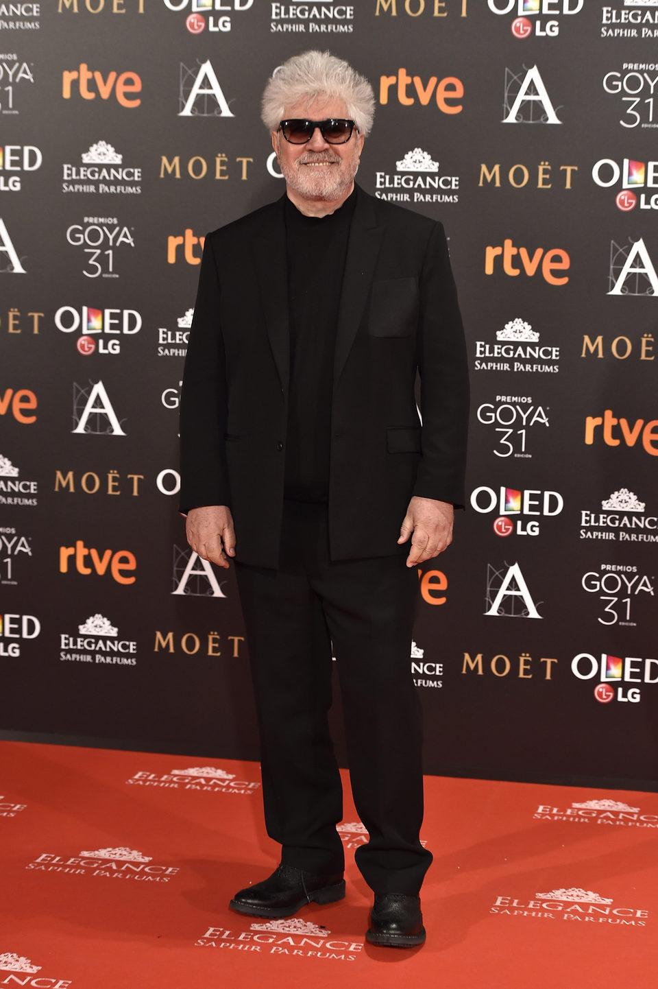 Pedro Almodóvar, el director de 'Julieta', en la alfombra roja de los Premios Goya 2017