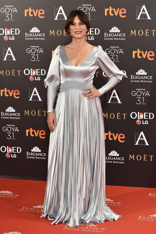 Aitana Sánchez en la alfombra roja de los Premios Goya 2017