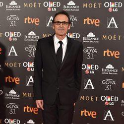 El compositor Alberto Iglesias en la alfombra roja de los Premios Goya 2017