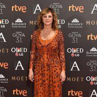 Emma Suárez en la alfombra roja de los Premios Goya 2017