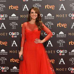 Paula Echevarría en la alfombra roja de los Premios Goya 2017