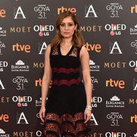 Hibba Abouk en la alfombra roja de los Premios Goya 2017