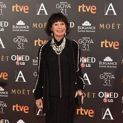 Geraldine Chaplin en la alfombra roja de los Premios Goya 2017