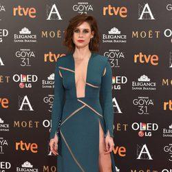 Manuela Vellés en la alfombra roja de los Premios Goya 2017