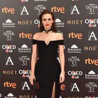 Aura Garrido en la alfombra roja de los Premios Goya 2017