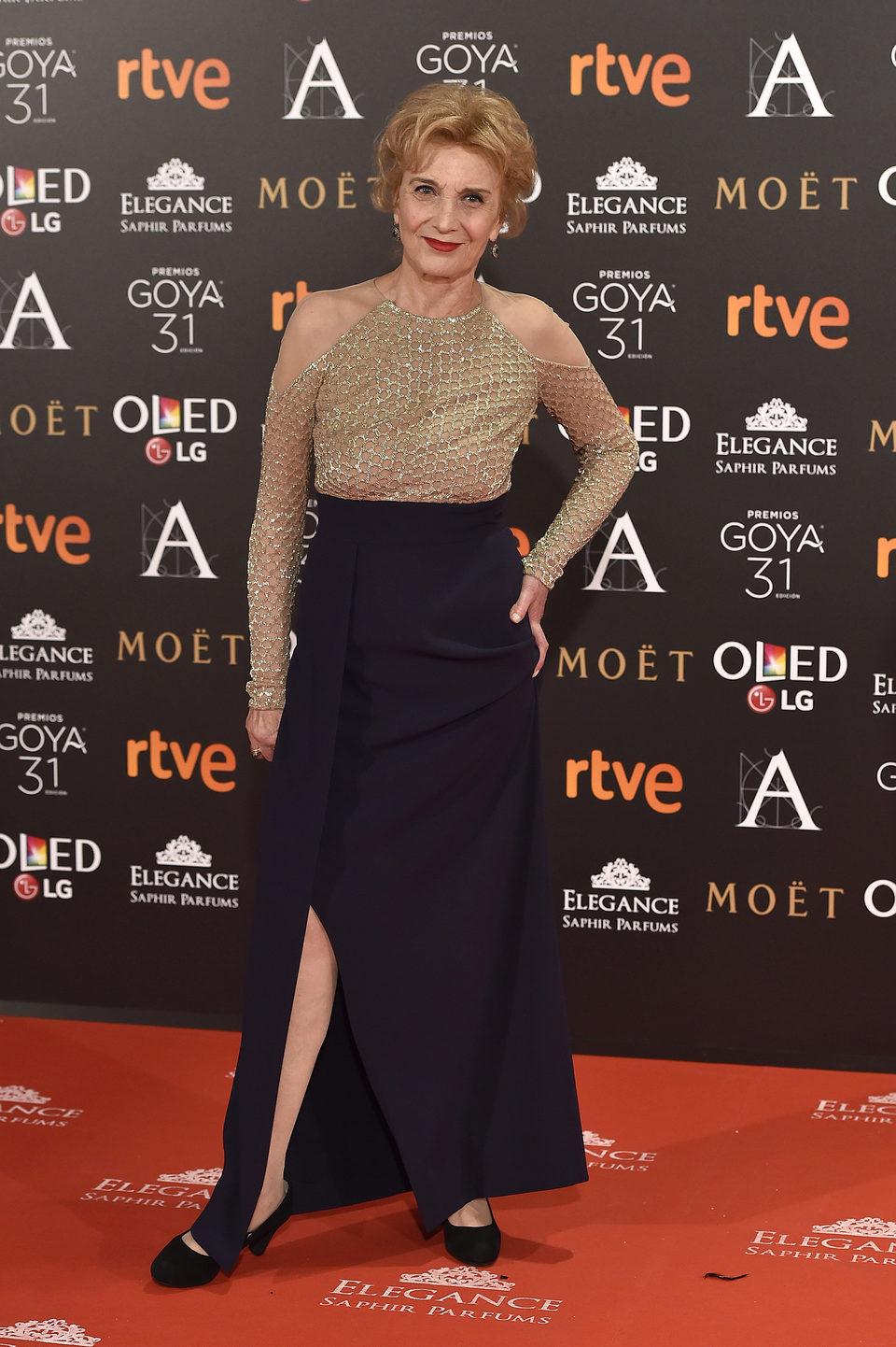 Marisa Paredes en la alfombra roja de los Premios Goya 2017