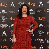 María Isasi en la alfombra roja de los Premios Goya 2017