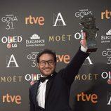 Carlos Santos, ganador del Goya 2017 a Mejor actor revelación